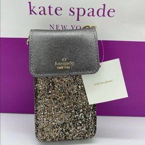 Kate Spade Laurel Way Glitter Phone Crossbody New!